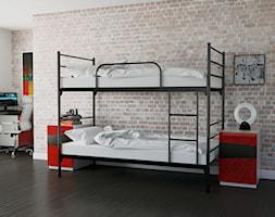 Średni szary pokój dziecka dla chłopca dla dziewczynki dla rodzeństwa dla ucznia dla nastolatka, st ... - zdjęcie od meblemwm - Homebook