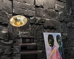 Kąpiele i sny za szkłem - Mały czarny hol / przedpokój, styl industrialny - zdjęcie od Homebook Design
