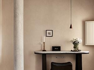 Hotel na greckiej wyspie - Mała szara sypialnia, styl nowoczesny - zdjęcie od Homebook Design