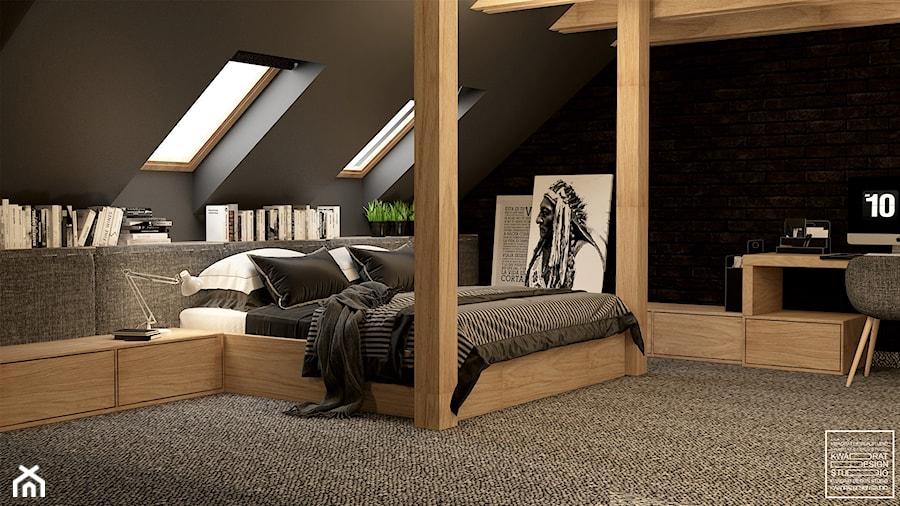 Sypialnia dla Singla - zdjęcie od Kwadrat Design Studio