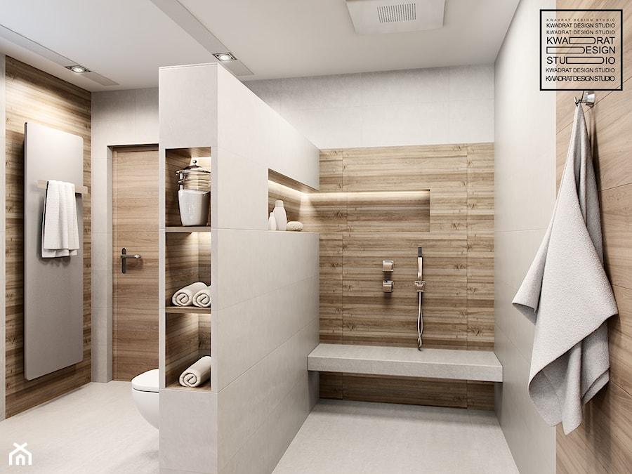Biel I Drewno W łazience Zdjęcie Od Kwadrat Design Studio