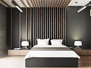 Loftowa sypialnia w męskim stylu