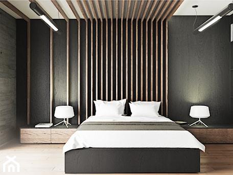 Aranżacje wnętrz - Sypialnia: Loftowa sypialnia w męskim stylu - Kwadrat Design Studio. Przeglądaj, dodawaj i zapisuj najlepsze zdjęcia, pomysły i inspiracje designerskie. W bazie mamy już prawie milion fotografii!