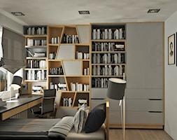 Pok%C3%B3j+nastolatka+w+szaro%C5%9Bciach+i+drewnie+-+zdj%C4%99cie+od+Kwadrat+Design+Studio