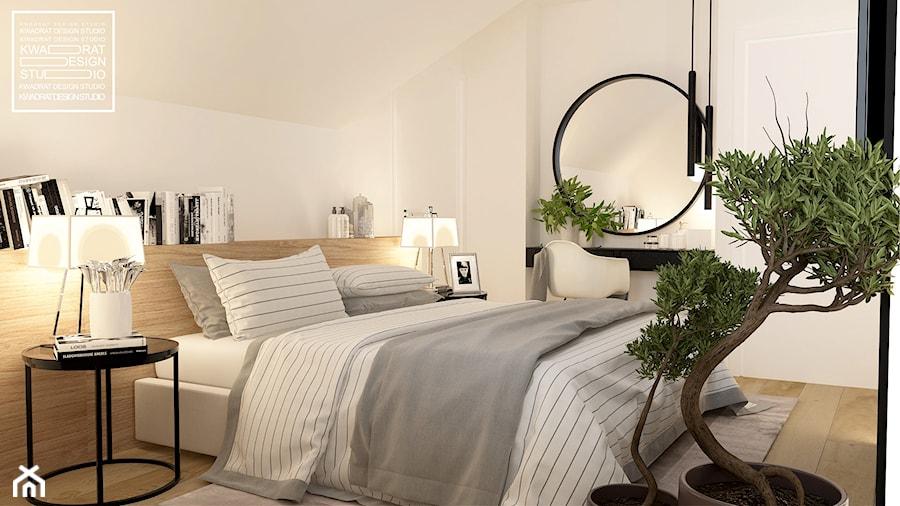 Przytulna sypialnia - zdjęcie od Kwadrat Design Studio