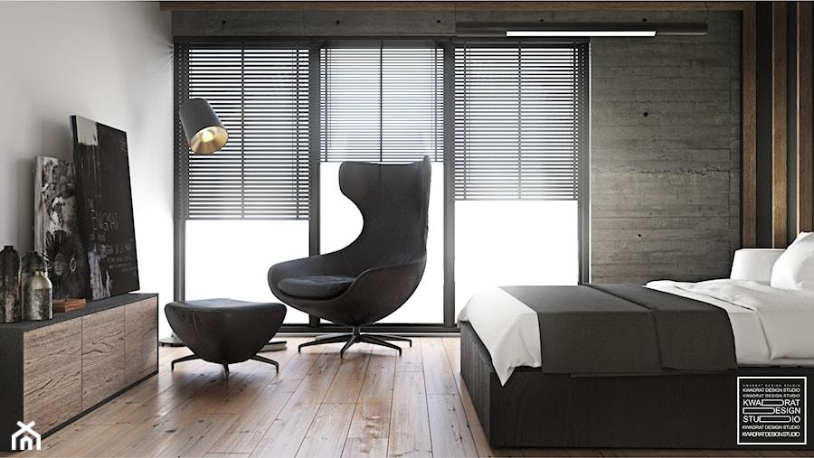 Loftowa Sypialnia W Męskim Stylu Zdjęcie Od Kwadrat Design