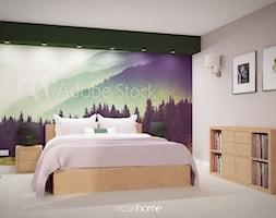 Sypialnia w zieleniach - zdjęcie od WIZUALHOME