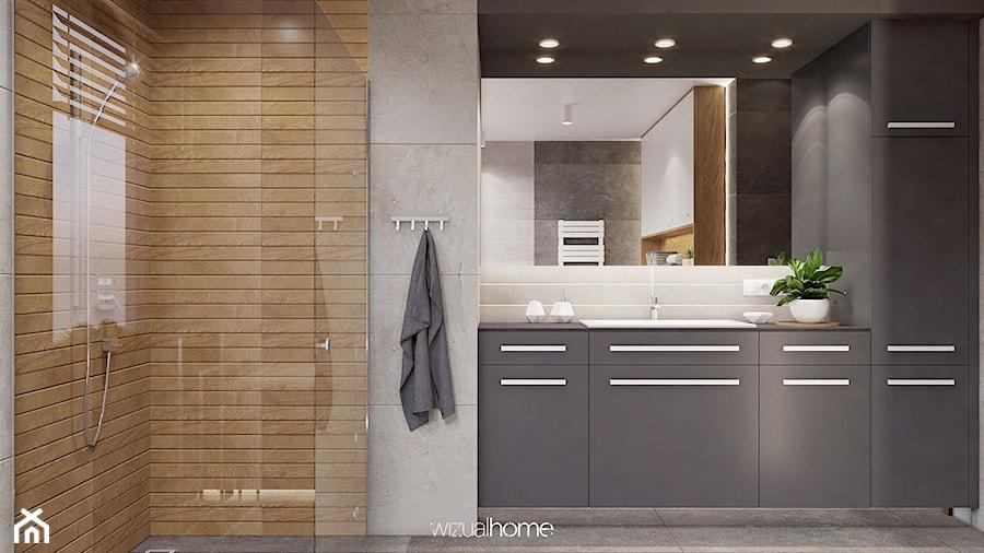 Łazienka w szarościach - zdjęcie od WIZUALHOME