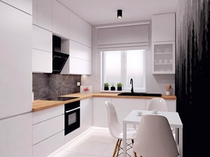 Kuchnia z czarnym akcentem - zdjęcie od WIZUALHOME