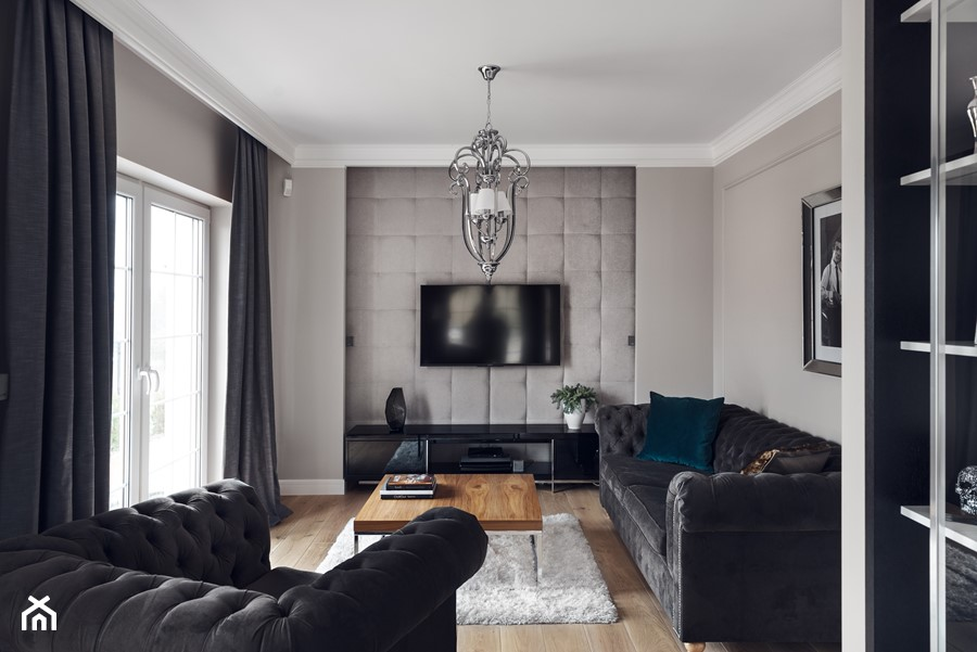salon zdj cie od gsg studio interiors design homebook. Black Bedroom Furniture Sets. Home Design Ideas