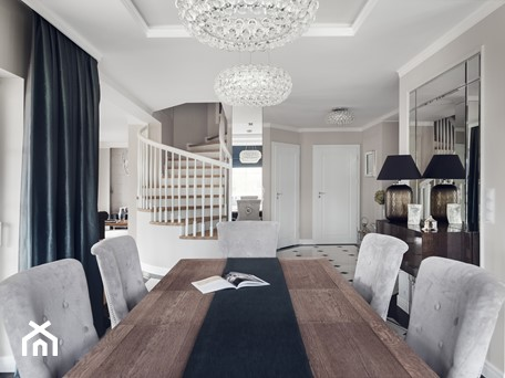 Widok z jadalni na hol - zdjęcie od GSG STUDIO | interiors & design