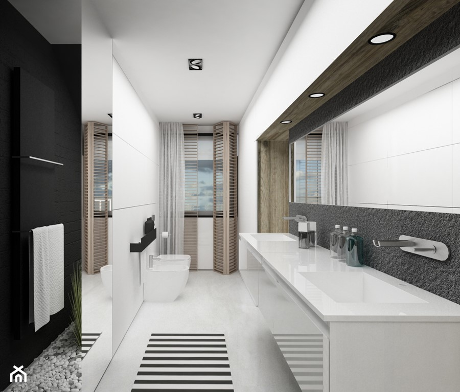 prywatna azienka w tle sypialni zdj cie od gsg studio interiors design homebook. Black Bedroom Furniture Sets. Home Design Ideas