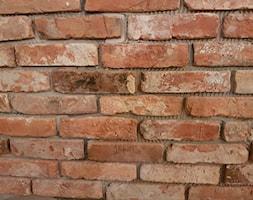 Realizacje. Płytki z lica starej cegły - Mała sypialnia, styl industrialny - zdjęcie od Loft-Styl