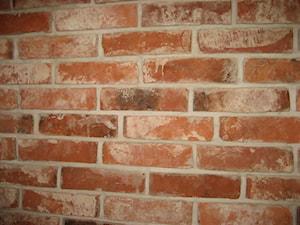 Realizacje. Płytki z lica starej cegły - Małe biuro, styl vintage - zdjęcie od Loft-Styl
