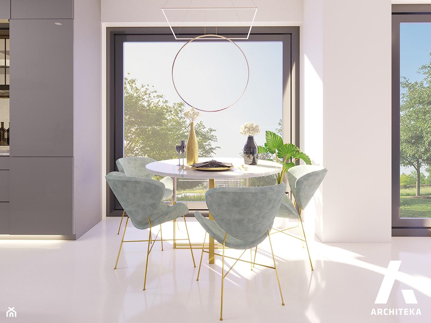 | DOM Z WIDOKIEM NA ODRĘ | - Jadalnia, styl nowoczesny - zdjęcie od | ARCHITEKA | - Homebook