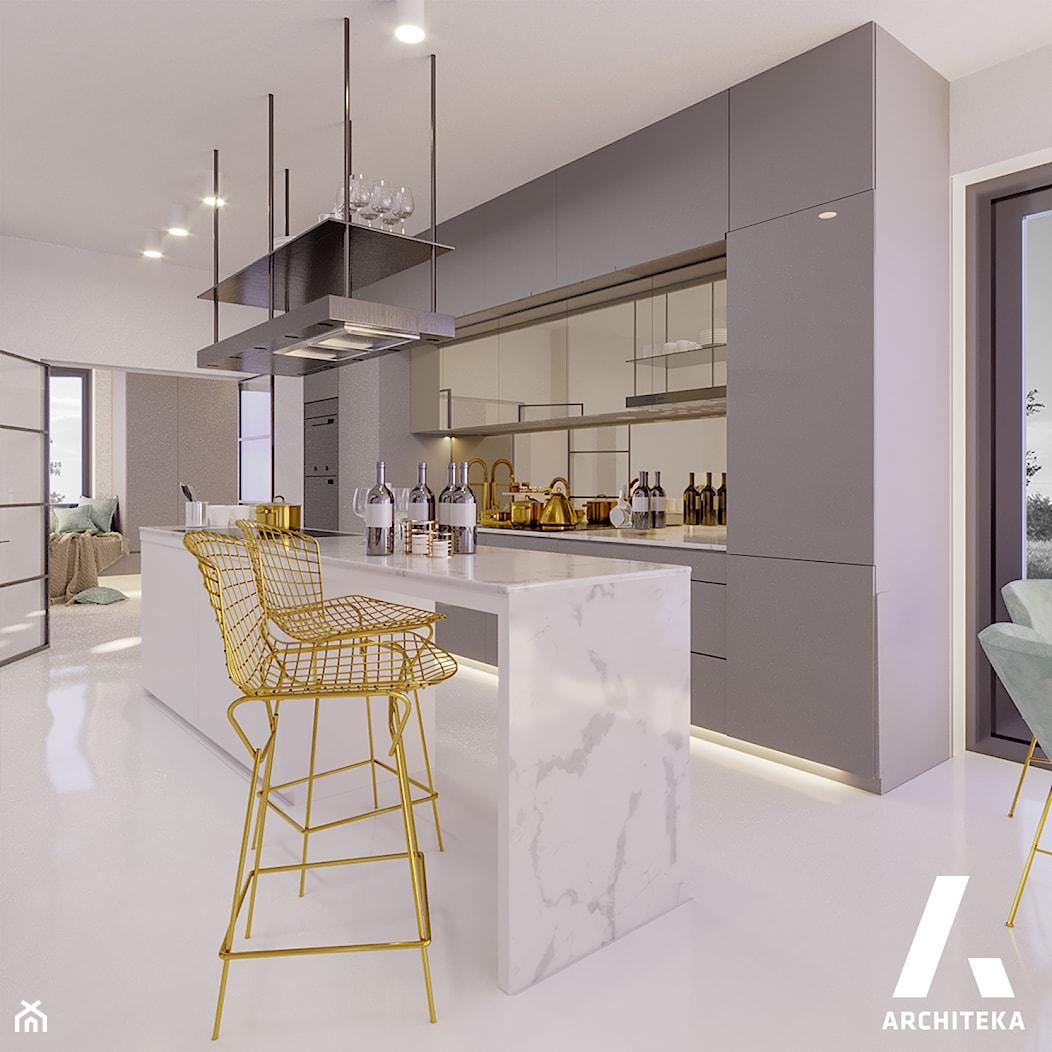 | DOM Z WIDOKIEM NA ODRĘ | - Kuchnia, styl nowoczesny - zdjęcie od | ARCHITEKA | - Homebook
