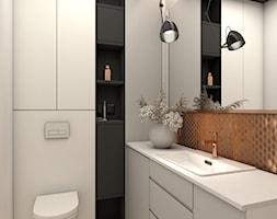 Jasna łazienka z miedzianymi kafelkami - zdjęcie od OroConcept Anna Orowiecka-Stanisławska - Homebook