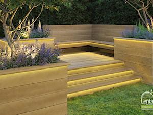 Millboard inspiracje na taras - kolor złoty dąb deska klasyczna
