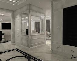 parter domu w stylu glamour - Średni biały szary hol / przedpokój, styl glamour - zdjęcie od conceptforhome