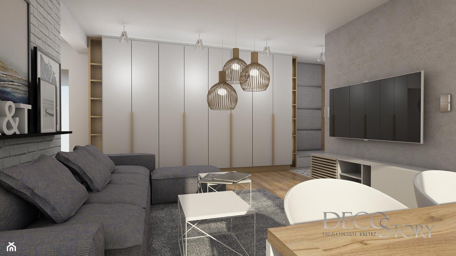 Szafa w salonie to wyzwanie - zdjęcie od Decostory projekty wnętrz, konsultacje oraz szybkie metamorfozy - Homebook