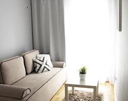 Kępa Mieszczańska Wrocław - Małe szare biuro domowe w pokoju, styl skandynawski - zdjęcie od zrobsobieraj