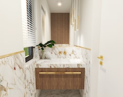 Toaleta marmurowa ze złotymi dodatkami - zdjęcie od ZRÓB SOBIE RAJ - Homebook