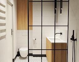 Łazienka z czarnymi dodatkami - zdjęcie od ZRÓB SOBIE RAJ - Homebook