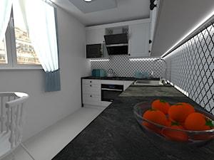 Kuchnia klasyczna - Średnia zamknięta biała kuchnia w kształcie litery l z oknem, styl klasyczny - zdjęcie od Dobry Plan