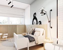 Złotniki - Średni biały miętowy pokój dziecka dla chłopca dla dziewczynki dla malucha, styl nowocze ... - zdjęcie od EDYCJA studio - Homebook