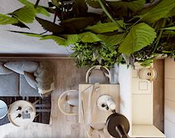 Man cave - Mała otwarta jadalnia w kuchni w salonie, styl nowoczesny - zdjęcie od EDYCJA studio