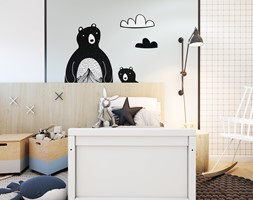 Złotniki - Średni biały pokój dziecka dla chłopca dla dziewczynki dla malucha, styl nowoczesny - zdjęcie od EDYCJA studio - Homebook
