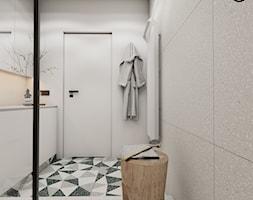 Roomba - Średnia szara łazienka w bloku w domu jednorodzinnym bez okna, styl minimalistyczny - zdjęcie od EDYCJA studio - Homebook