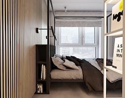 Roomba - Mała szara sypialnia małżeńska, styl minimalistyczny - zdjęcie od EDYCJA studio - Homebook