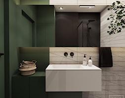 Greenhouse - Średnia czarna zielona łazienka w bloku w domu jednorodzinnym bez okna, styl nowoczesny - zdjęcie od EDYCJA studio