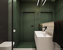 Greenhouse - Średnia biała zielona łazienka bez okna, styl nowoczesny - zdjęcie od EDYCJA studio