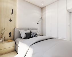 The beginning - Średnia szara sypialnia małżeńska, styl nowoczesny - zdjęcie od EDYCJA studio - Homebook