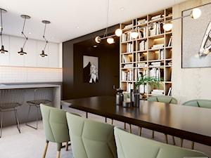 Industrial vibe - Średnia otwarta czarna jadalnia w kuchni, styl industrialny - zdjęcie od EDYCJA studio