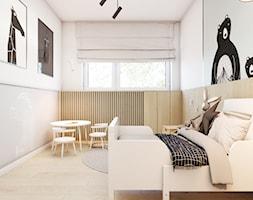 Złotniki - Średni biały szary beżowy pokój dziecka dla dziewczynki dla malucha, styl nowoczesny - zdjęcie od EDYCJA studio - Homebook