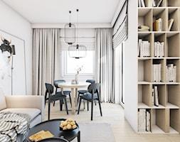 The beginning - Mały biały salon z jadalnią, styl nowoczesny - zdjęcie od EDYCJA studio - Homebook