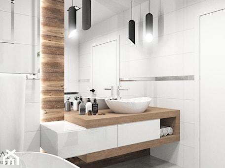 Aranżacje wnętrz - Łazienka: Projekt łazienki - Średnia łazienka w bloku w domu jednorodzinnym bez okna, styl nowoczesny - MINIMAL.. Przeglądaj, dodawaj i zapisuj najlepsze zdjęcia, pomysły i inspiracje designerskie. W bazie mamy już prawie milion fotografii!