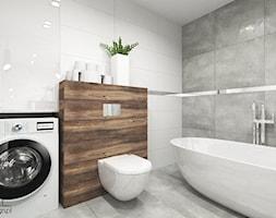d5ecfd5b2119e Projekt łazienki - Średnia łazienka w bloku w domu jednorodzinnym bez okna,  styl nowoczesny -