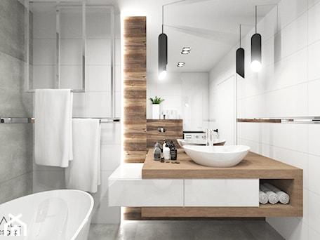 Aranżacje wnętrz - Łazienka: Projekt łazienki - Mała łazienka w bloku w domu jednorodzinnym bez okna, styl nowoczesny - MINIMAL.. Przeglądaj, dodawaj i zapisuj najlepsze zdjęcia, pomysły i inspiracje designerskie. W bazie mamy już prawie milion fotografii!