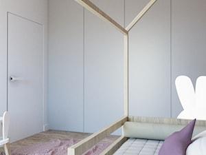 Pokój dziecka dla dziewczynki - Średni biały różowy pokój dziecka dla chłopca dla dziewczynki dla malucha, styl minimalistyczny - zdjęcie od MINIMAL.