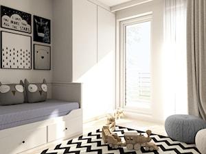 Mieszkanie I - Mały biały pokój dziecka dla chłopca dla dziewczynki dla malucha dla nastolatka, styl nowoczesny - zdjęcie od MINIMAL.
