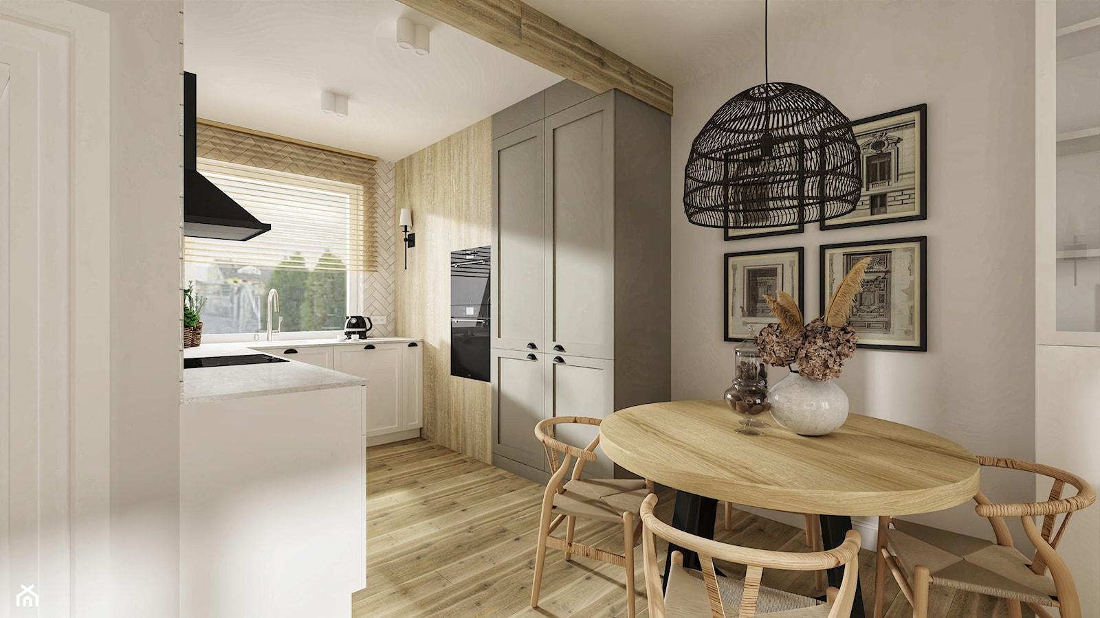 Przytulna kuchnia w domu w stylu rustykalnym - zdjęcie od Reforma Domu - Homebook