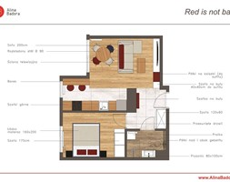 Mieszkanie+z+czerwonymi+akcentami+kolorystycznymi+-+zdj%C4%99cie+od+Alina+Badora+Pracownia+Architektury+Wn%C4%99trz