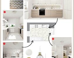 Kuchnia+w+bieli+ze+z%C5%82otymi+detalami+-+zdj%C4%99cie+od+Alina+Badora+Pracownia+Architektury+Wn%C4%99trz