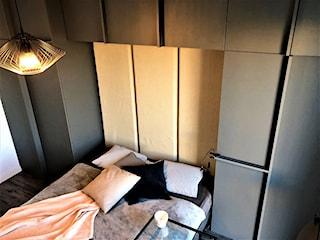 Pakowna i szykowna mała sypialnia - realizacja projektu na Lipie Piotrowskiej