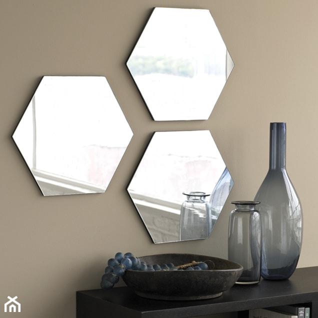 nowoczesne lustro dekoracyjne plaster miodu zdjęcie od