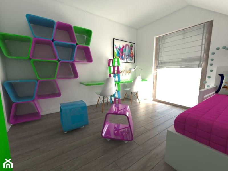 Pokój dziecięcy inspirowany bajką Trolle - zdjęcie od Miłkowska Studio
